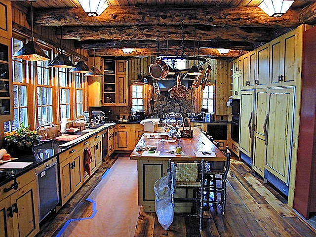 Knotty Pine Kitchen