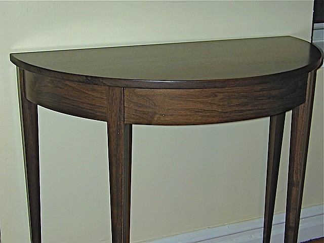 Walnut Demi Lune Table